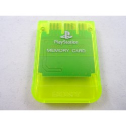 Memory Card Playstation Gelb